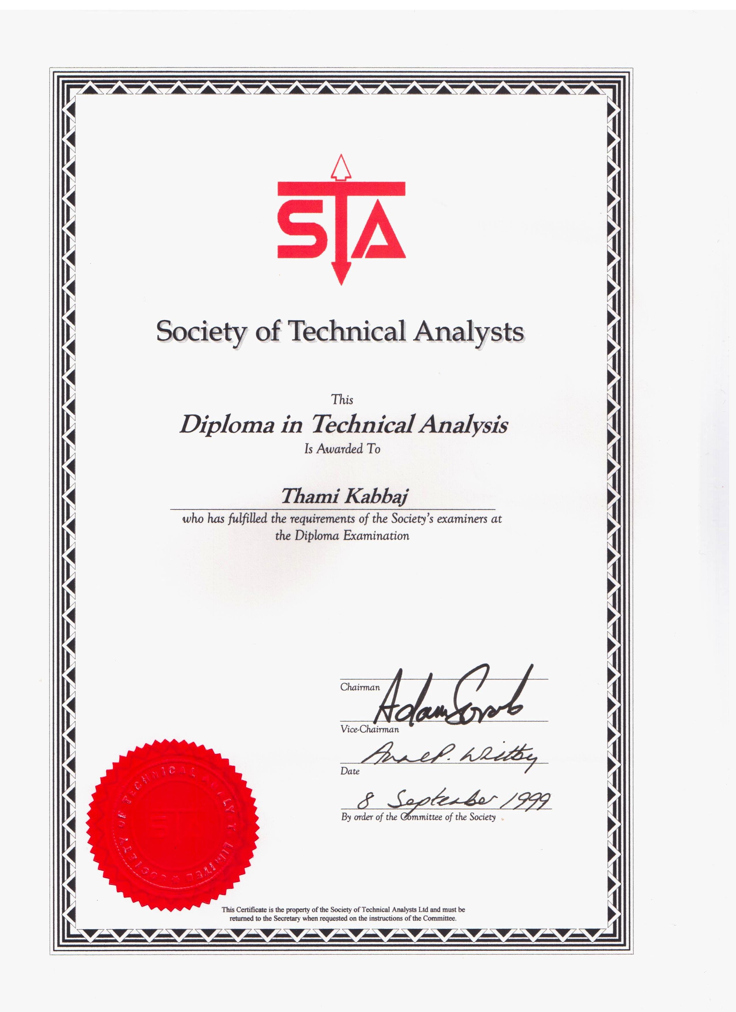 Diplômé MSTA en 1999