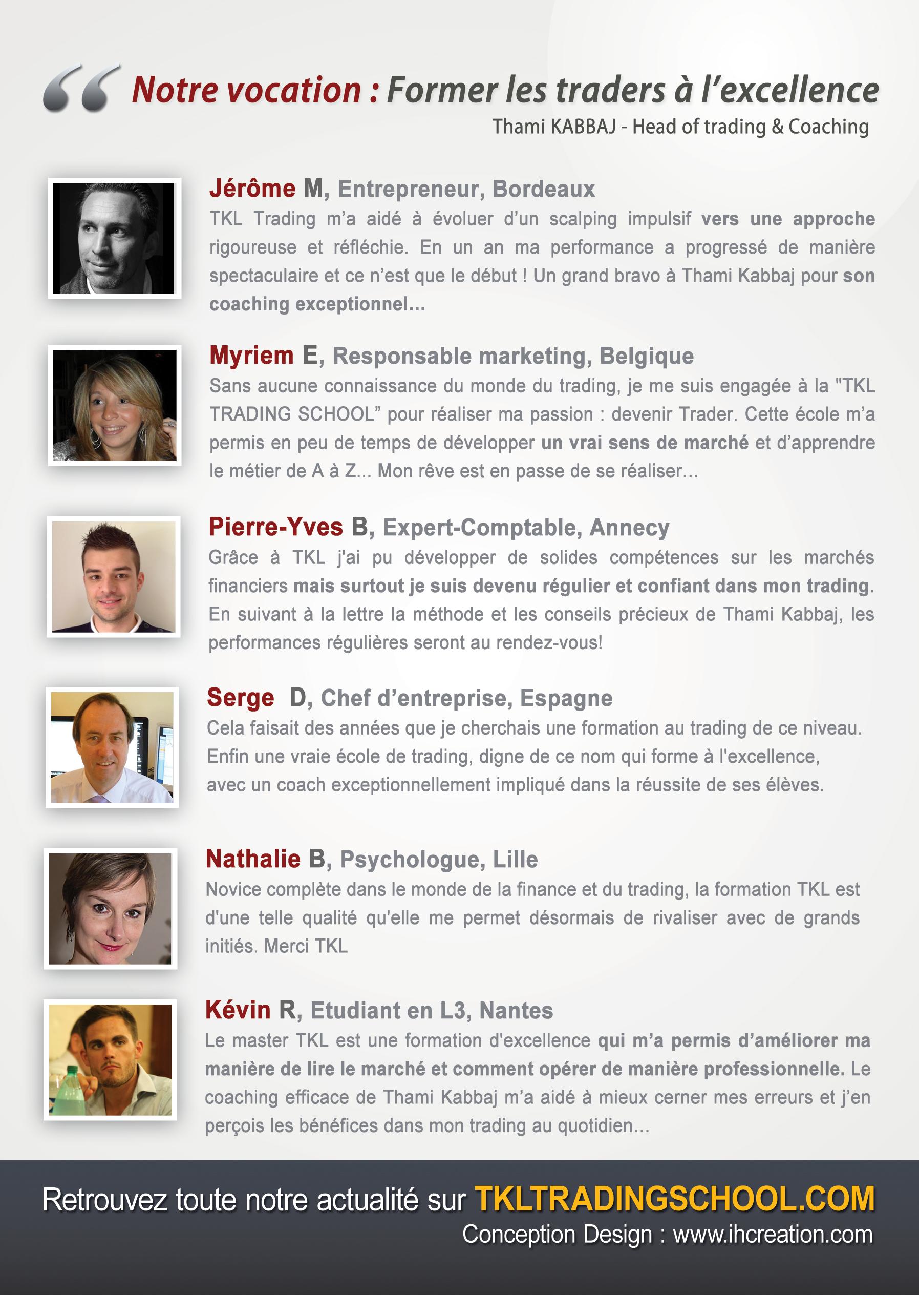 Retrouvez les top TKL Traders au salon de l'analyse technique les 22 et 23 mars