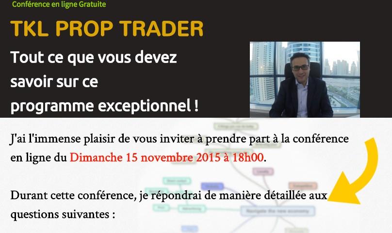 Conférence en ligne : TKL PROP TRADER Reportée au 22 novembre !