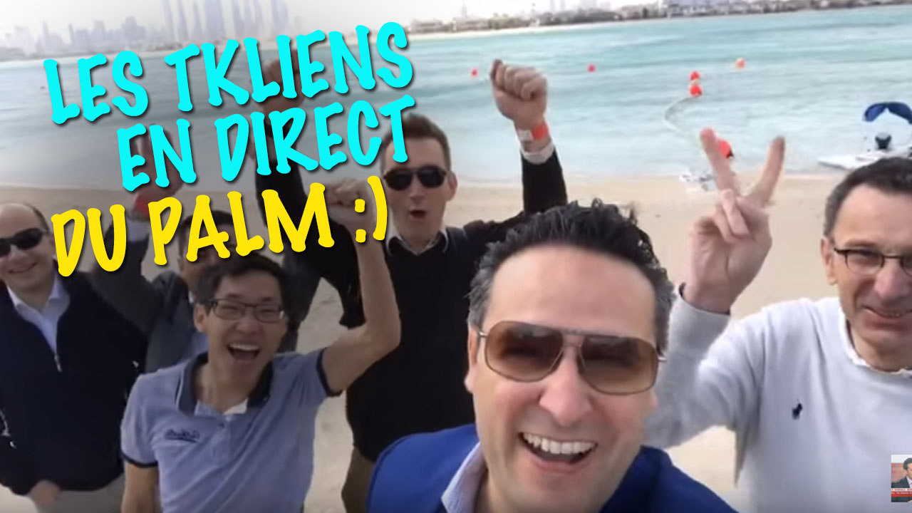 Les TKLiens en direct du Palm :) #tempetedesable #Dubai