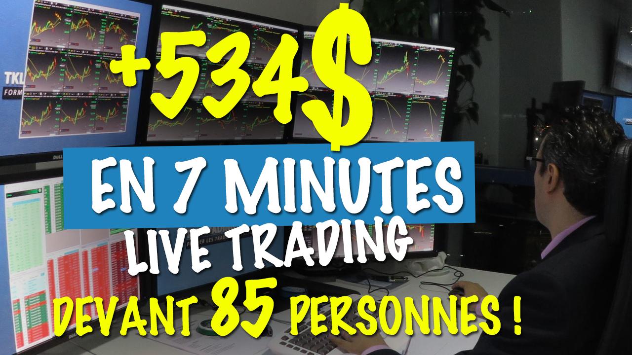 Thami Kabbaj : +534 $ en 7 minutes Live Trading devant 85 personnes !