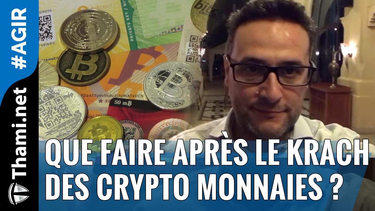 Que faire après le Krach des crypto monnaies