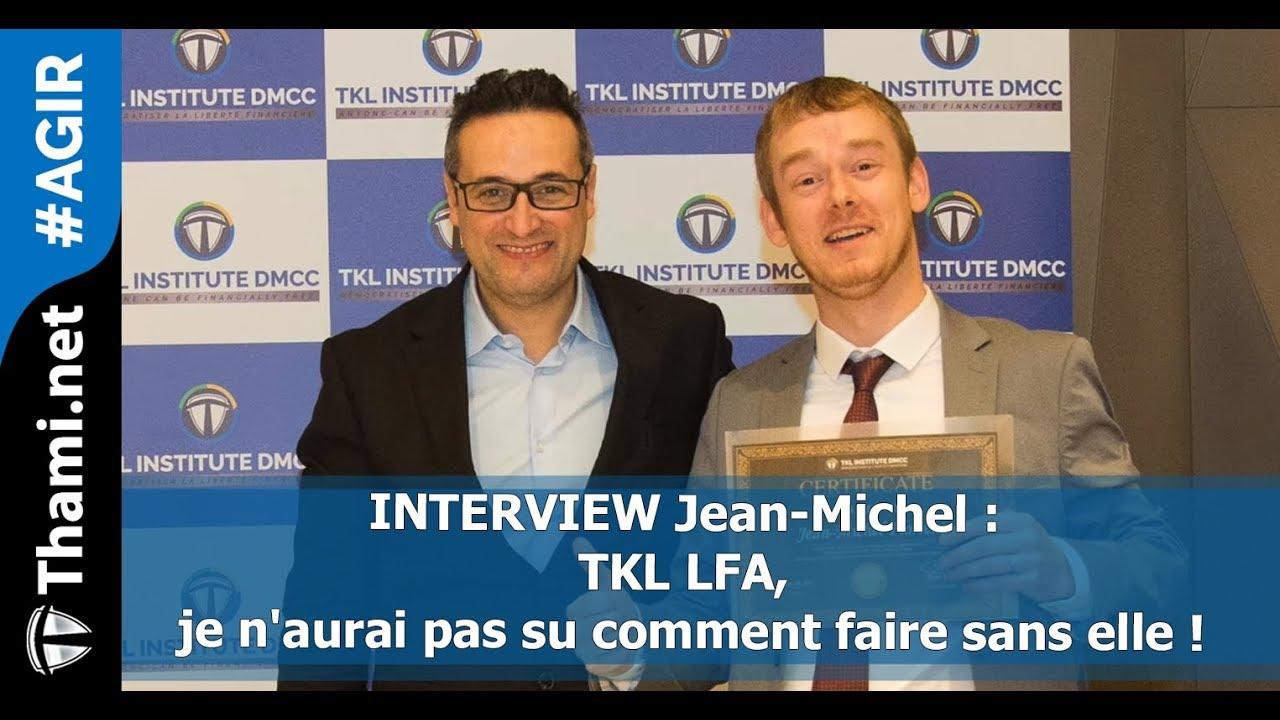 Jean Michel : je n'imagine pas ce que j'aurais fait sans TKL LFA ?