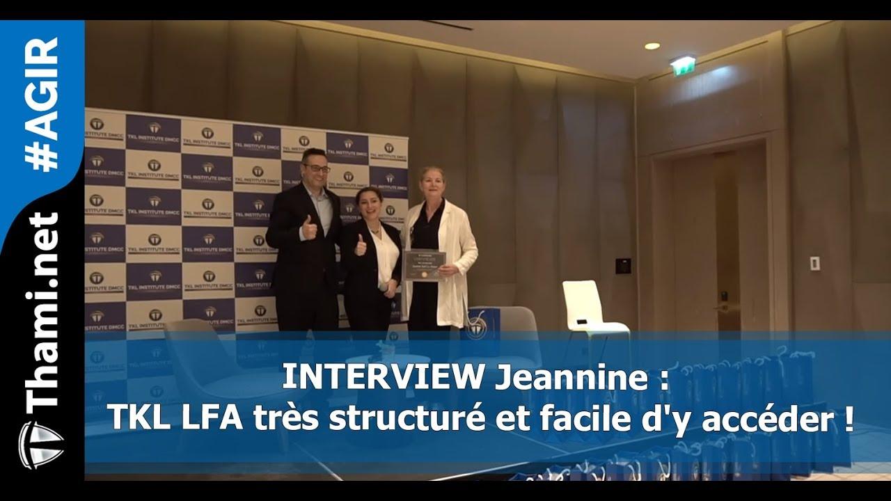 ITW Jeannine : TKL LFA très structuré et facile d'y accéder !