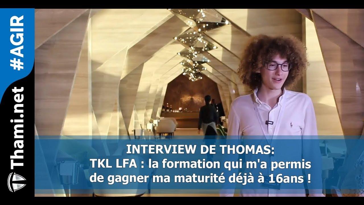 Thomas : TKL LFA m'a permis de réussir ma maturité à 16 ans !
