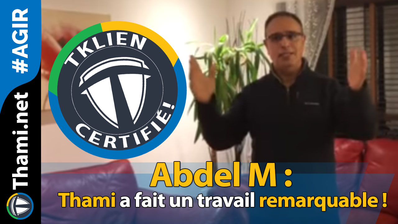 Abdel M : Thami a fait un travail remarquable !